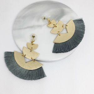 NWT Anthropologie Tassels Gold Drop Earrings